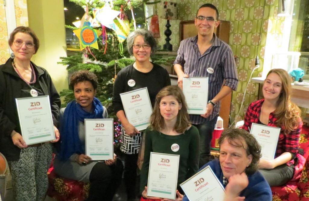 CultuurGidsen met hun diploma van ZID Academy
